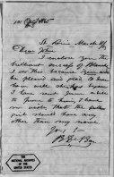 Ben DeBar's Letter to John Wilkes NARA