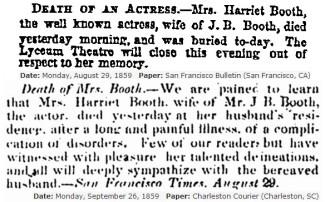 Harriet Mace's death