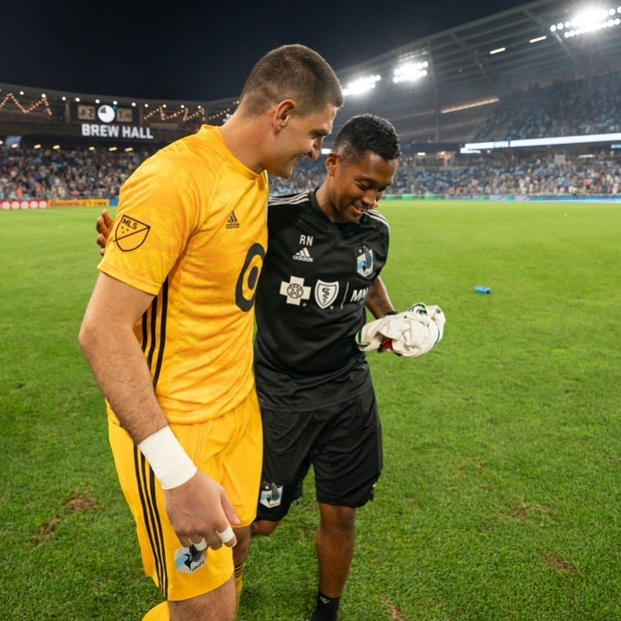 Ryan Natusch - Equipment Manager Minnesota United FC with Vito Mannone