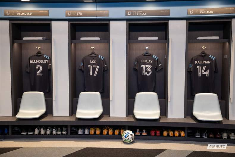 Minnesota United FC locker room