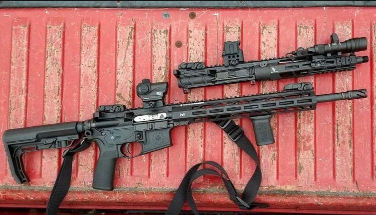 parts of an upper receiver AR-15 bootleg