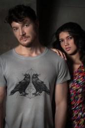 Camiseta Crow Lines Cinza R$69.99, Regata Pied Poule R$84.90