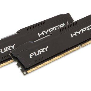 Kingston HyperX FURY 16GB Kit (2x8GB) 1600MHz DDR3 CL10 DIMM - Black HX316C10FBK2