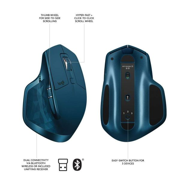 Midnight Teal MX Master 2S - Logitech Mouse buttons