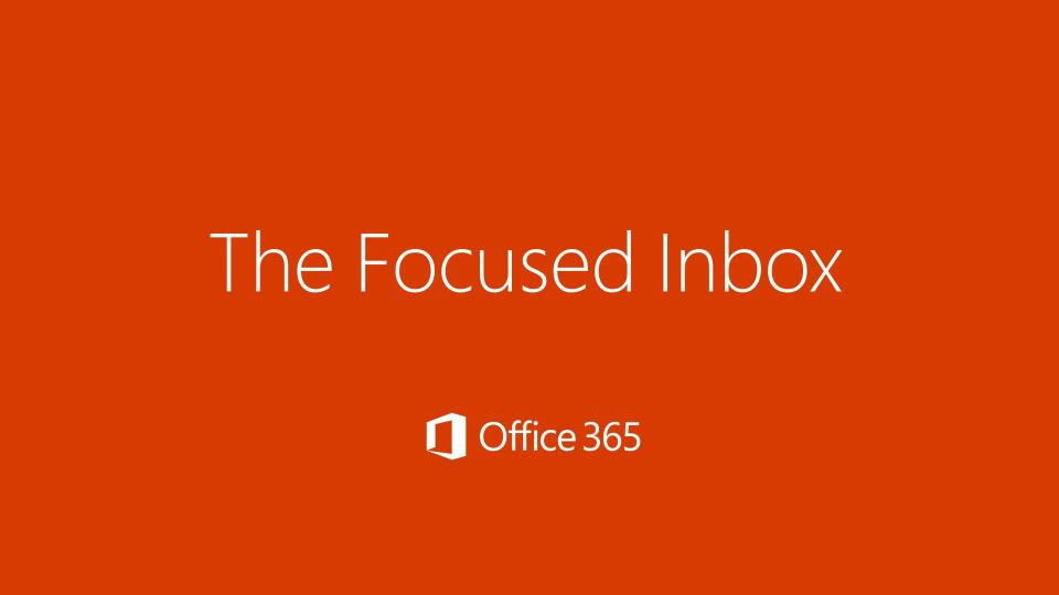 focused inbox outlook 365