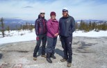 Lindsay, Becky (Clay's sister-in-law) and Clay at the end of a snowshoe up White Cap Mountain in Andover, Maine