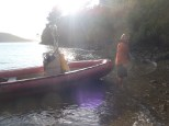 """I took Lindsay out on a day off in our small """"tender"""" and we went to a secluded cove for a private brunch."""