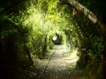 My artistic shot of a an old railway now hiking path