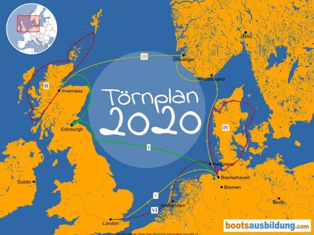Törnplanübersicht 2020