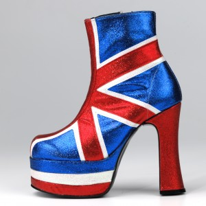 Union Jack boot, Shellys, 1978