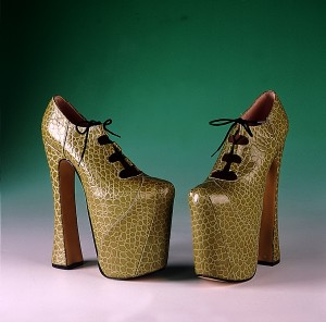 Vivienne Westwood's Super Elevated Ghillie shoes, 1998