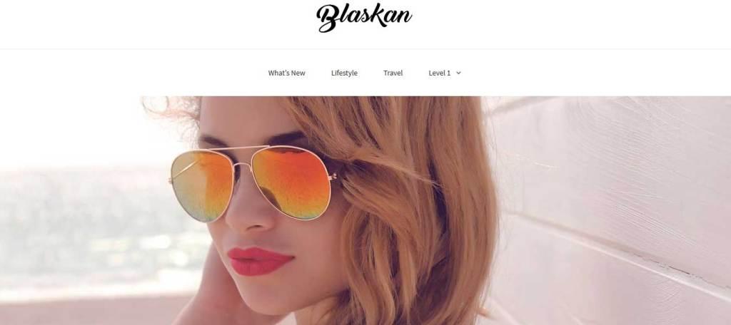 blaskan : Thème wordpress gratuit responsive pour site d'entreprise