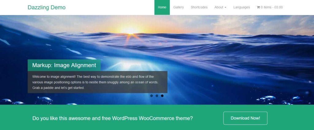 dazzling : Thème wordpress gratuit responsive pour site d'entreprise