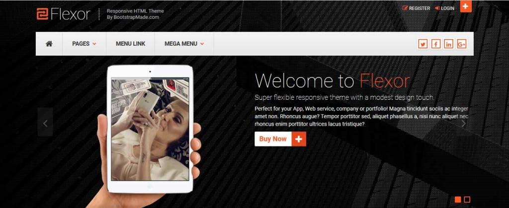 flexor : thèmes gratuits Bootstrap pour site moderne