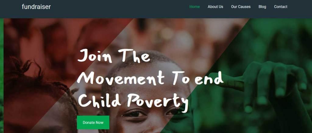 fundraiser : thèmes gratuits Bootstrap pour site moderne