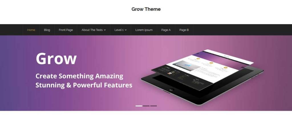 grow : Thème wordpress gratuit responsive pour site d'entreprise