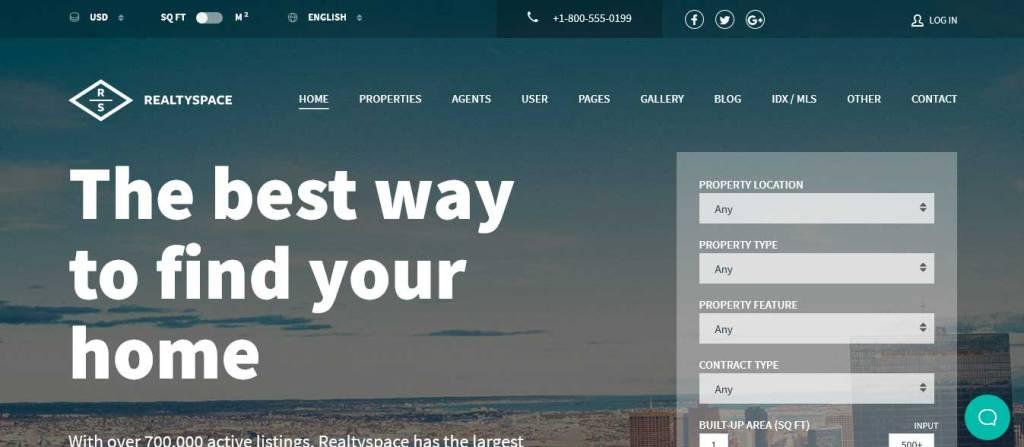 realtyspace : thèmes wordpress ecommerce