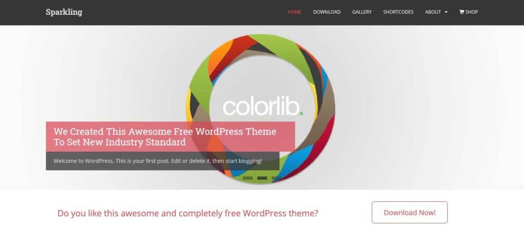 sparkling : Thème wordpress gratuit responsive pour site d'entreprise