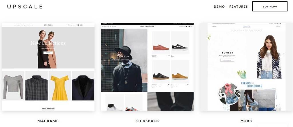 upscale: meilleurs thèmes pour site d'ecommerce