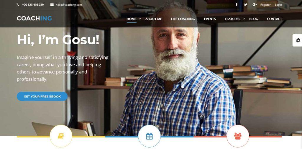 Coaching: thèmes wordpress premiums pour site d'éducation