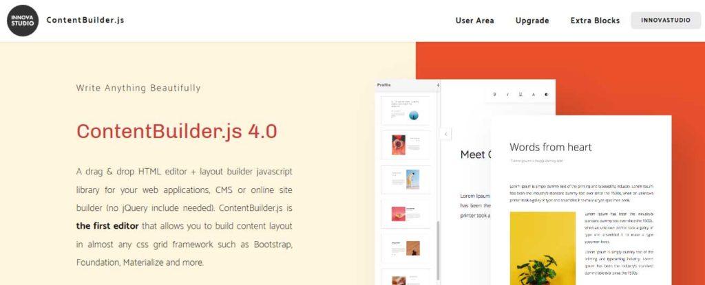 contentbuilder: extention javascript pour creation de thème