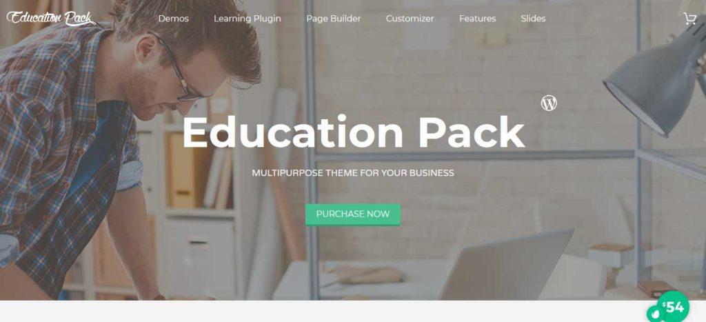 Education Pack: thèmes wordpress premiums pour site d'éducation