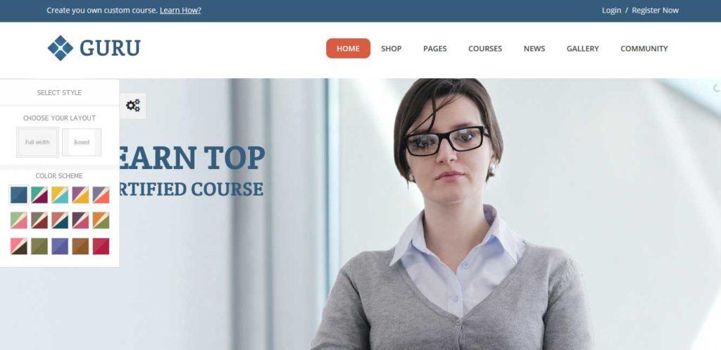 Guru: thèmes wordpress premiums pour site d'éducation
