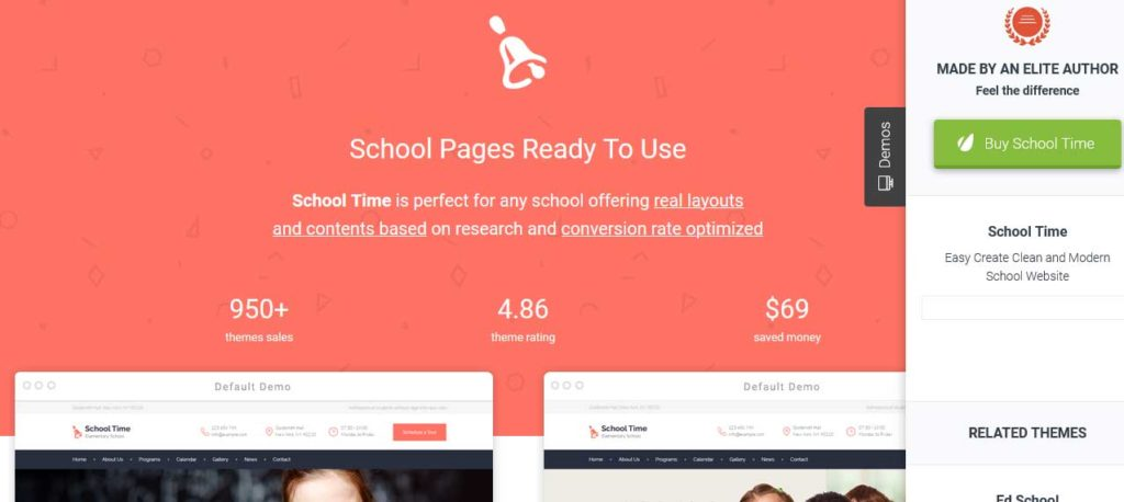 School Time: thèmes wordpress premiums pour site d'éducation