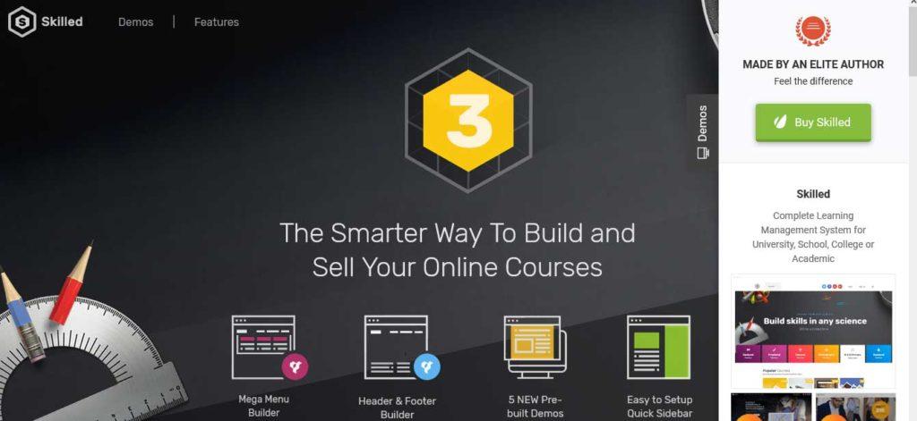 Skilled: thèmes wordpress premiums pour site d'éducation