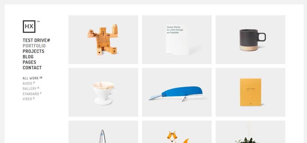hyperx: thème wordpress portfolio