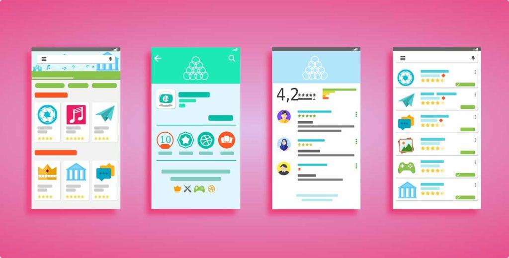 utilité des couleurs vives dans une application web