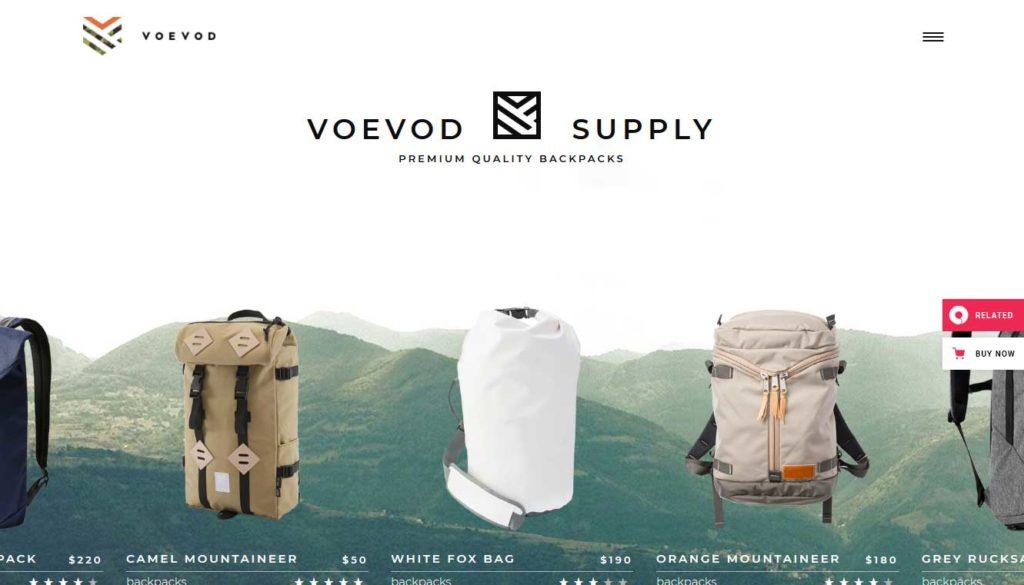 Voevod: thèmes WooCommerce pour boutique en ligne