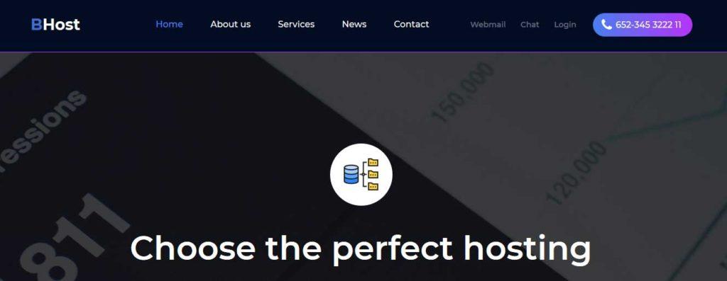 bhost : template gratuit responsive pour site d'hébergement