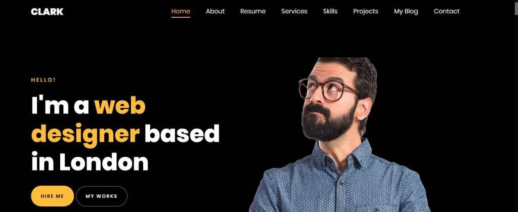 Clark : thèmes responsives gratuits pour freelance