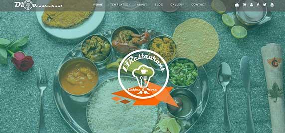 di-restaurant : thème responsive gratuit pour site de restaurant