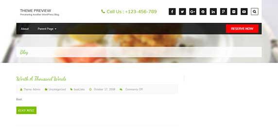 foodeez : thème responsive gratuit pour site de restaurant