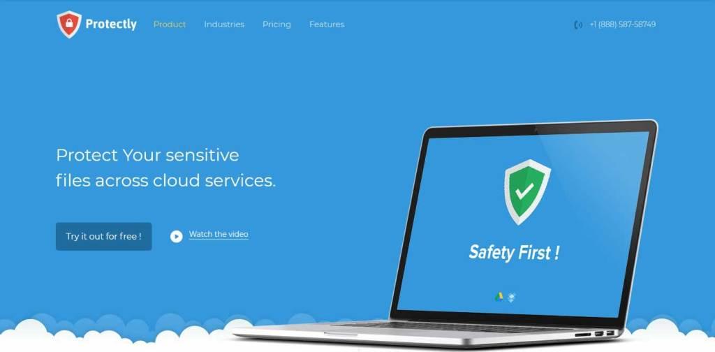 protectly : template gratuit responsive pour créer un site d'hébergement