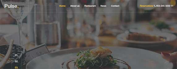 pulse : thème responsive gratuit pour site de restaurant