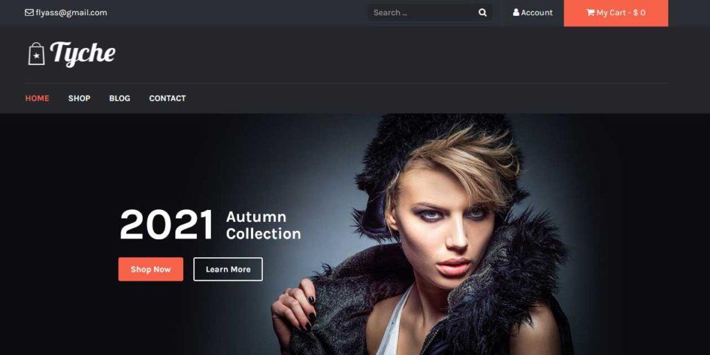 tyche : thème responsive gratuit ecommerce de mode