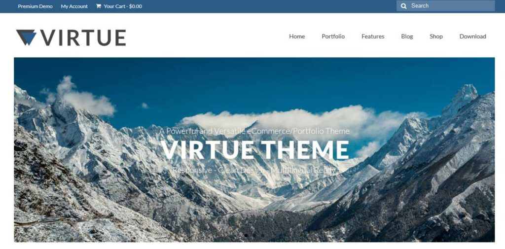 virtue : thème responsive gratuit ecommerce de mode
