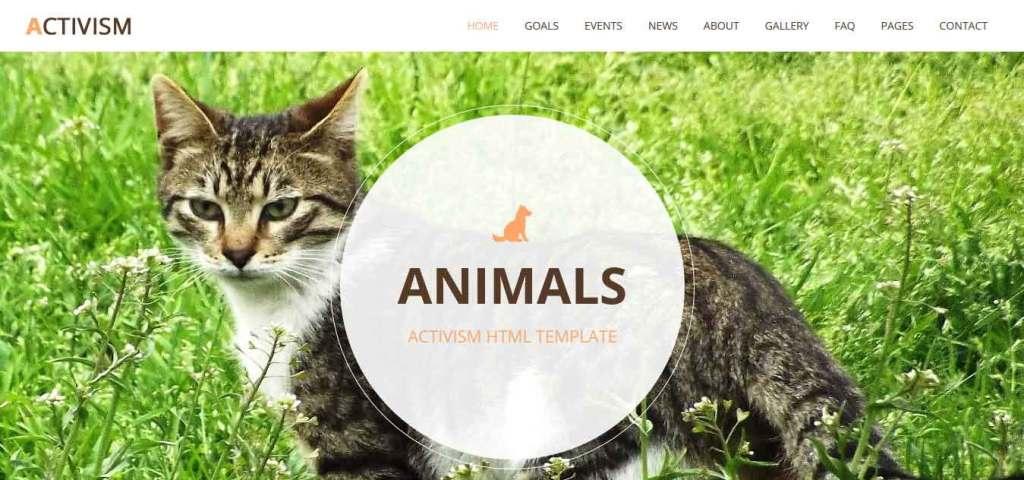 activism : themes pour site d'animaux