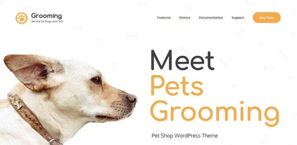 grooming : themes pour site d'animaux