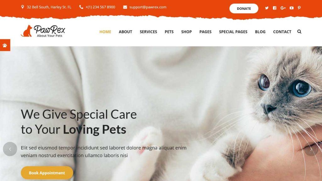 paurex : themes pour site d'animaux