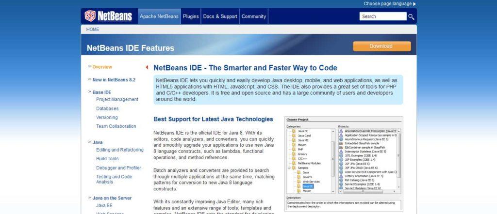netbeans : éditeurs de code gratuits