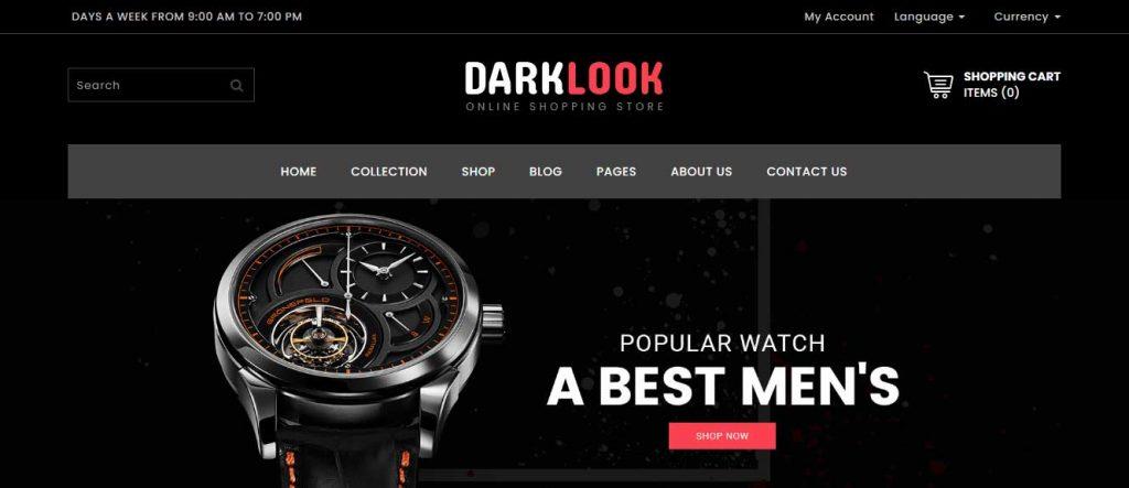 darklook : thème pour site d'ecommerce