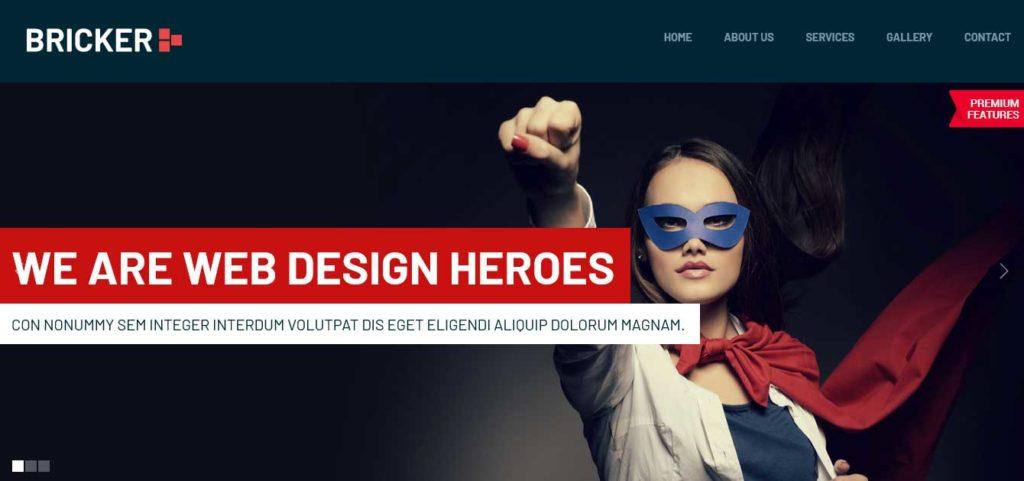bricker : Template html css gratuit