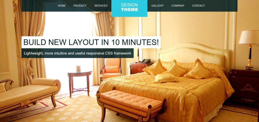 Design Thème : Template html css gratuit