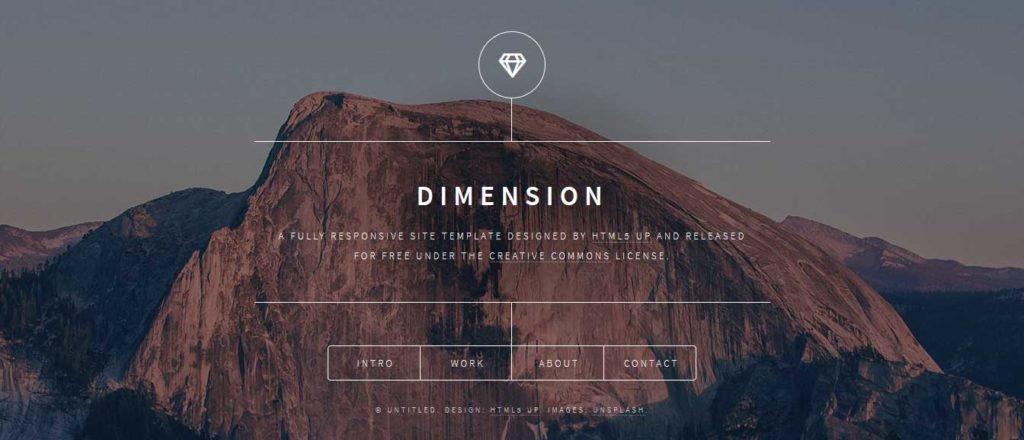 Dimension : template html css responsive
