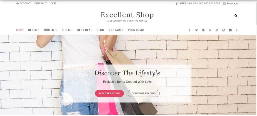 excellent shop : thème wordpress gratuit