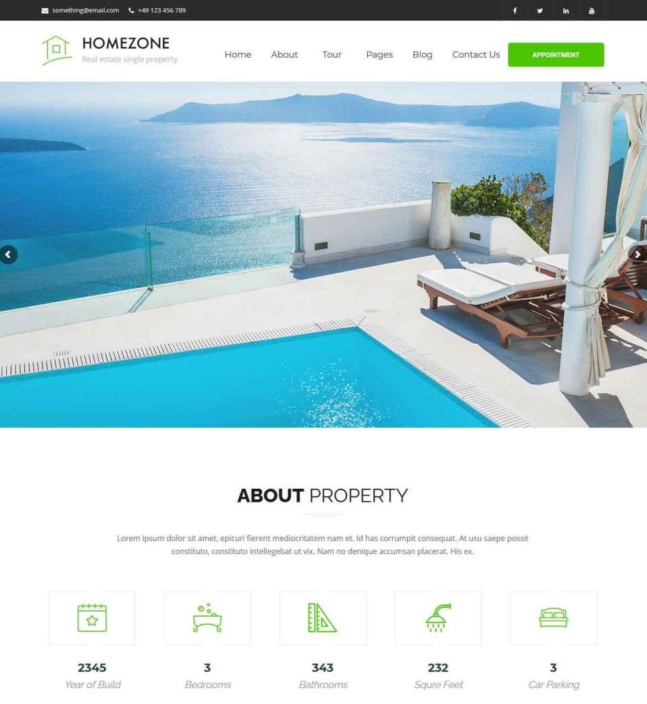 Homezone : Thème wordpress pour site d'immobilier